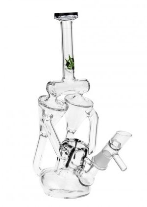 Black Leaf – Duo Recycler Bubbler with Slitted Diffuser Perc