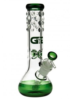 Grace Glass Beaker Ice Bong | Green