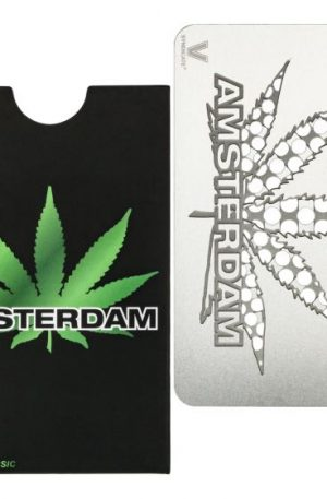 V Syndicate Amsterdam Hemp Leaf Grinder Card