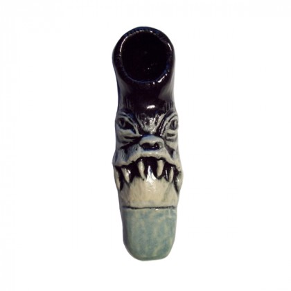 Ceramic Hand Pipe | Six Tooth Frown