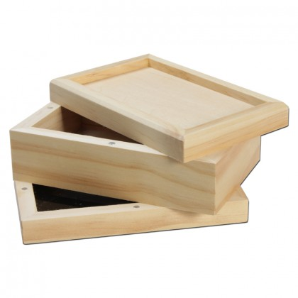 Wooden Pollen Sifter Kief Box | 3-part