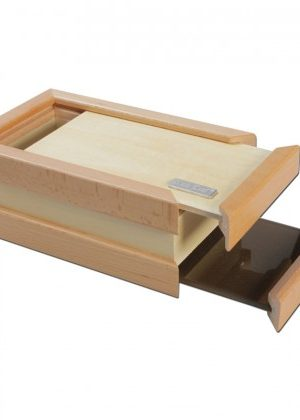 Black Leaf Wooden Pollen Sifter Kief Box | Large