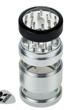 Kannastör 2.2 inch Aluminium 4-part Grinder | Clear Top
