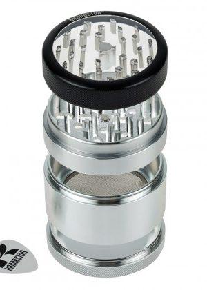 Kannastör 2.5 inch Aluminium 4-part Grinder   Clear Top