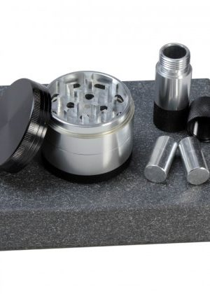 Aluminum Herb Grinder and Pollen Presser Gift Set | 4-part