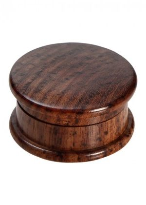 Rosewood Herb Grinder – Smooth Flat Lids – 2-part – 35mm wide