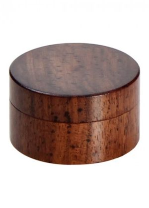 Rosewood Herb Grinder – Smooth Flat Surface – 2-part – 35mm wide