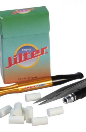 Jilter Pipe – Anodized Aluminum Pipe and Filters Set – Gold