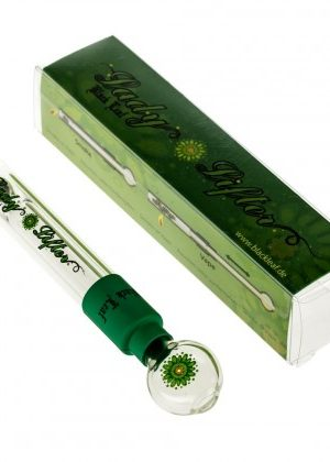 Black Leaf Lady Lifter Glass Vaporizer Pipe