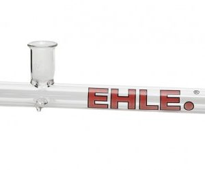 EHLE. Glass – Steamroller Pipe – Extra Large – Red logo w/black outline