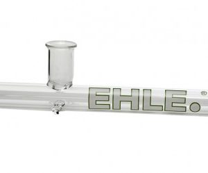 EHLE. Glass – Steamroller Pipe – Extra Large – White logo w/green outline
