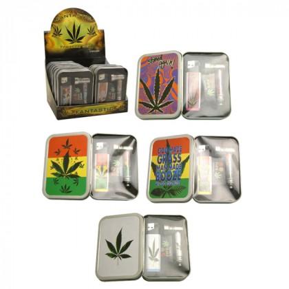 Smokers Gift Set – Stash Tin, Metal Pipe and Screens