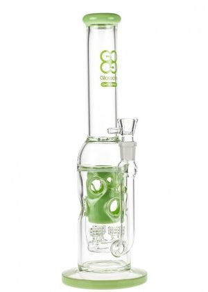 Glasscity Limited Edition Swiss Triple Perc Recycler Bong | Milky Green