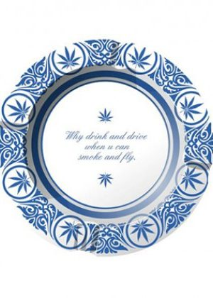 Metal Ashtray Delft Blue | Smoke and Fly