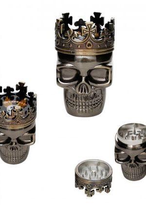 King Skull – Metal Herb Grinder – 3-part