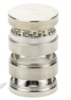 Aluminum Herb Grinder with Pollen Screen 56mm | 4-part