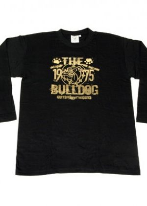 The Bulldog Amsterdam – Gold Foil Print Long-Sleeve Shirt – Black