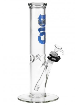 Bio Hazard Glass Straight Ice Bong | 12 Inch