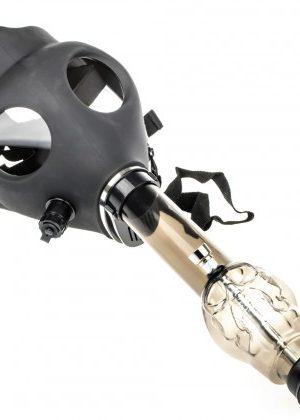 Gas Mask Bong with Acrylic Tube | Skull
