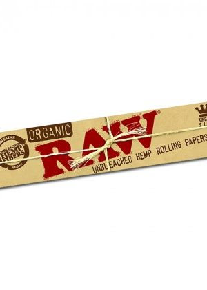 RAW Organic King Size Slim Hemp Rolling Papers – Single Pack