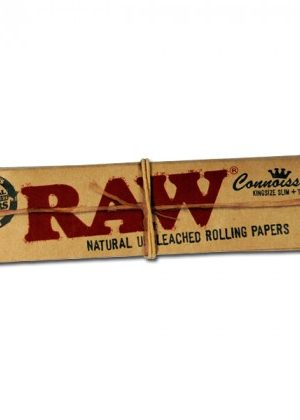 RAW Connoisseur King Size Slim Hemp Rolling Papers with Filter Tips – Box of 24 Packs
