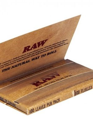 RAW Natural Single Wide Twin Pack Hemp Rolling Papers – Single Pack