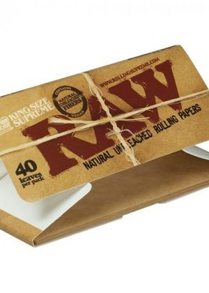 RAW Natural King Size Supreme Hemp Rolling Papers – Single Pack