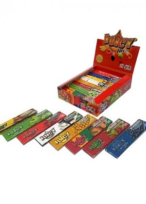 Juicy Jay's Flavor Variety King Size Rolling Papers – Box of 24 packs