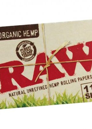 RAW Organic Regular Size Extra-Wide Hemp Rolling Papers – Box of 25 Packs