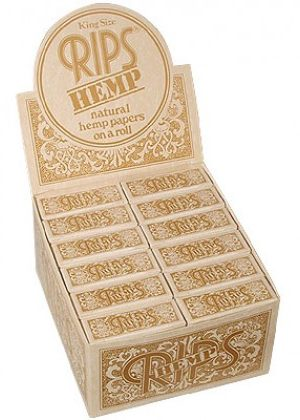 RIPS Hemp King Size Rolling Paper – Box of 24 Rolls