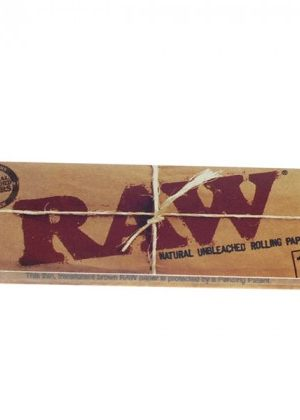 RAW Natural Regular Size Rolling Papers – Box of 24 Packs