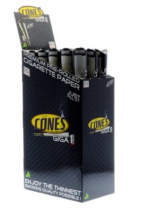 Cones – Giga Size Pre-Rolled Paper Cone – Box of 15 Packs