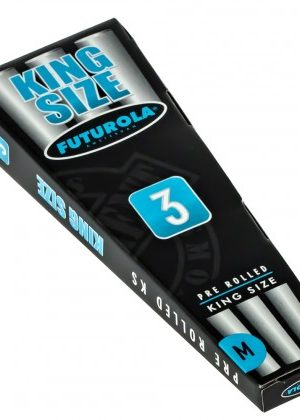 Futurola King Size Pre-Rolled Cones | Box of 3
