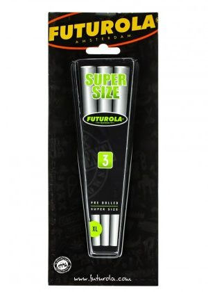 Futurola Blister Pack Super Size Pre-Rolled Cones | Box of 3