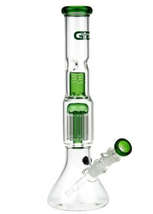 Grace Glass 8-arm Tree Perc Beaker Base Glass Ice Bong | Green