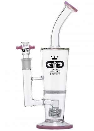 Grace Glass – Limited Edition Bubbler with HoneyComb Disc Perc & Drum Diffuser – Pink