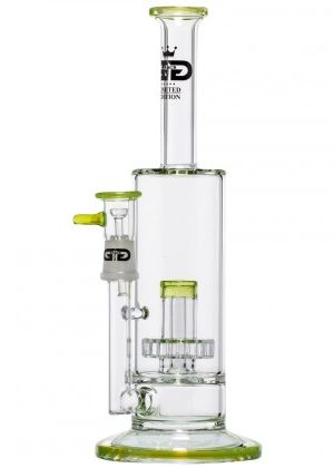 Grace Glass – Limited Edition Vapor Bong with Slit Diffuser Perc – Yellow/Green