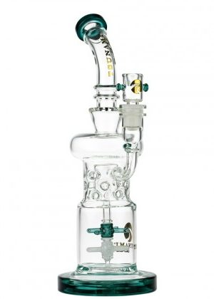Tsunami Glass Double Propeller Drum Perc Bong