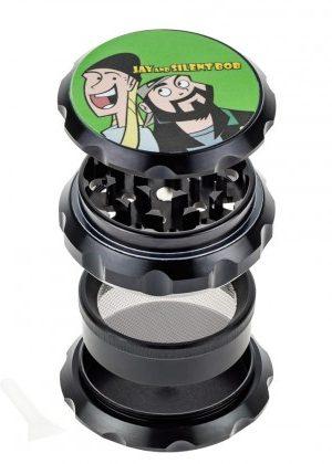 Jay and Silent Bob Aluminum Grinder | Jay & Bob | Black – 30% SALE Special
