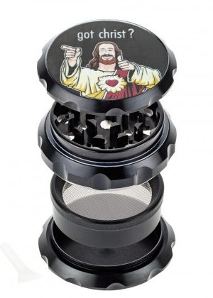 Jay and Silent Bob Aluminum Grinder | Buddy Christ | Black