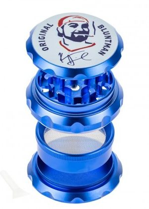 Jay and Silent Bob Aluminum Grinder | Bluntman | Blue – 30% SALE Special