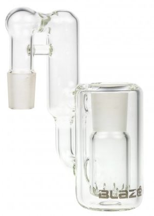 Blaze Glass Recycler Precooler with 10-slit Diffuser | 90 Degree Joint | 18.8mm