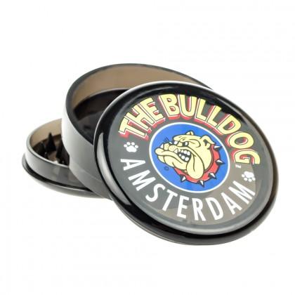 The Bulldog Plastic Grinder   Transparent Black