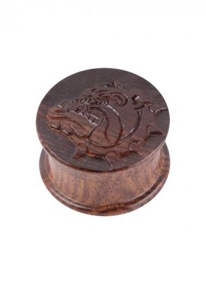 The Bulldog Amsterdam Carved Rosewood Herb Grinder | 2-part