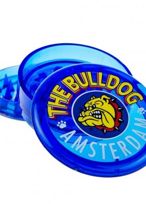 The Bulldog Plastic Grinder | Transparent Blue