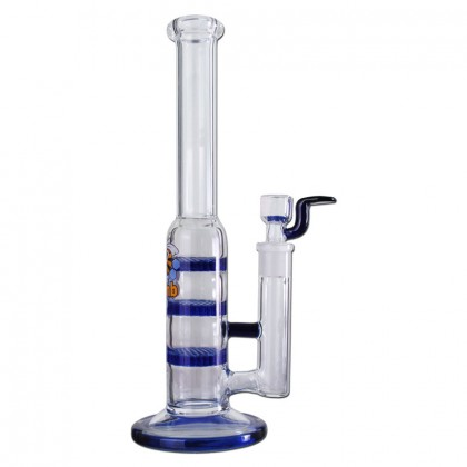 Black Leaf – Glass Bong with Triple HoneyComb Disc Perc – 25.5cm