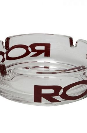 ROOR – Glass Ashtray With Color Logo
