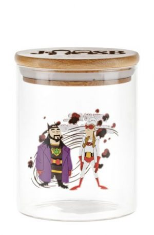 Jay and Silent Bob Glass Stash Jar | Bluntman and Chronic