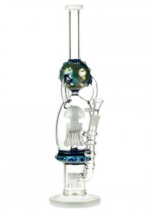 Glasscity Jellyfish Recycler Bong with Double Sprinkler Perc – 35% OFF – END OF LINE SPECIAL