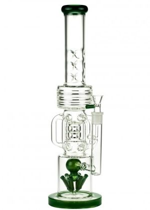 Glasscity Ice Bong with Rocket Perc and Cooling Tubes | 18 Inch – 35% OFF – END OF LINE SPECIAL